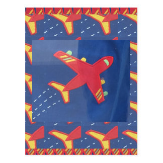 Cartão Postal Feriados do piquenique do viagem do vôo dos aviões