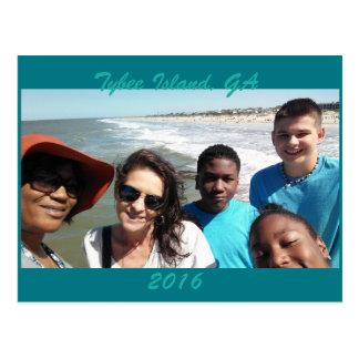 Cartão Postal Férias da ilha de Tybee