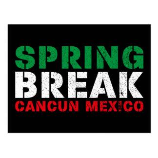Cartão Postal Férias da primavera Cancun México