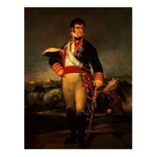 Cartão Postal Fernando VII da espanha, por Francisco de Goya,