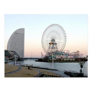 Cartão Postal Ferris roda dentro Yokohama Japão