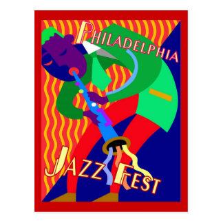Cartão Postal Fest do jazz de Philadelphfia