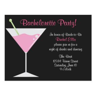 Cartão Postal Festa de solteira do cocktail
