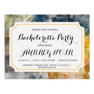 Cartão Postal Festa de solteira para o casamento do vinhedo ou
