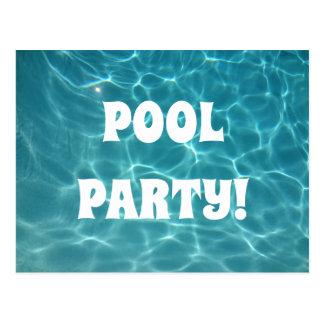 Cartão Postal Festa na piscina