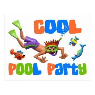 Cartão Postal Festa na piscina legal