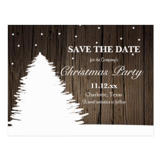 Cartão Postal Festa natalícia de madeira rústica do inverno da