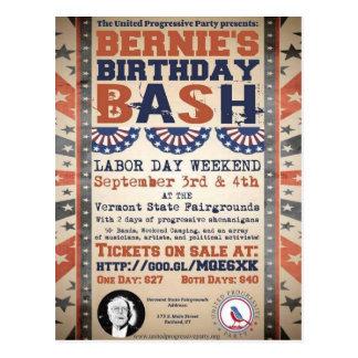 Cartão Postal Festança do aniversário de Bernie 75th e festival