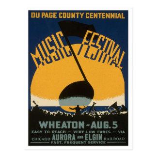Cartão Postal Festival de música do condado, 1939