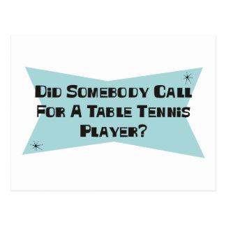 Cartão Postal Fez alguém chamada para um jogador de ténis de