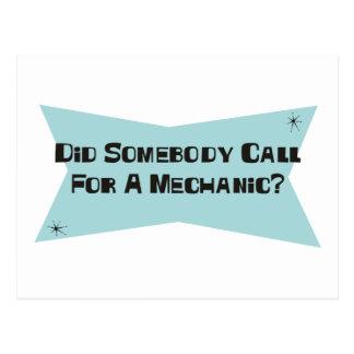 Cartão Postal Fez alguém chamada para um mecânico