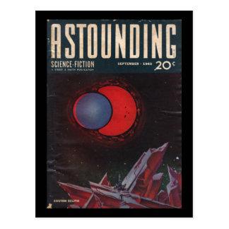 Cartão Postal Ficção científica surpreendente, em setembro de