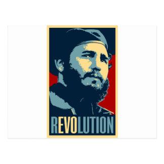 Cartão Postal Fidel Castro - presidente cubano da revolução de