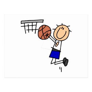 Cartão Postal Figura dissipador T-shirs do basquetebol e