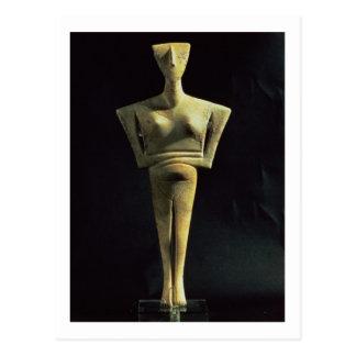 Cartão Postal Figura fêmea de Cycladic, da ilha de Amorgo,