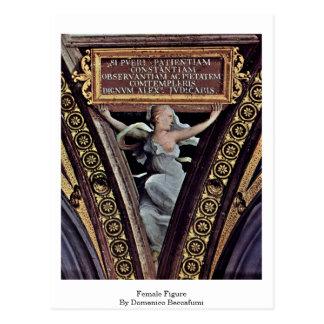 Cartão Postal Figura fêmea por Domenico Beccafumi