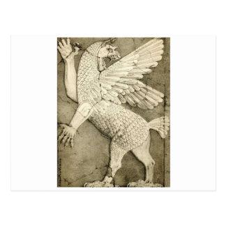 Cartão Postal Figura voada mitológica