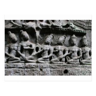 Cartão Postal figuras de pedra no prohm de Ta