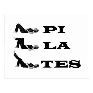 Cartão Postal Figuras de Pilates!