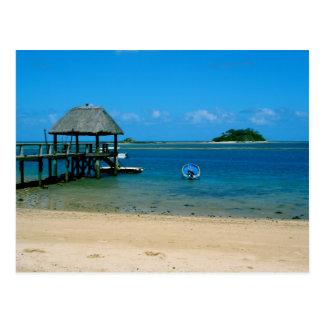 Cartão Postal Fiji - paraíso encontrado na ilha de Malolo