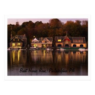 Cartão Postal Fileira da casa de barco, PA de Philadelphfia