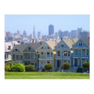 Cartão Postal Fileira do Victorian de San Francisco