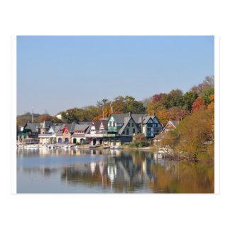 Cartão Postal Fileira Philadelphfia do Boathouse