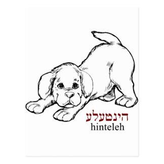 """Cartão Postal Filhote de cachorro de """"Hinteleh"""" -"""