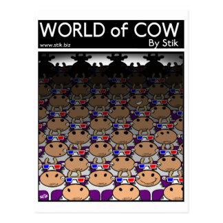 Cartão Postal filme da vaca 3D