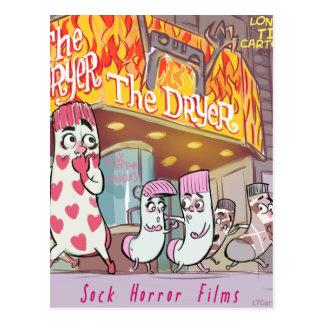 Cartão Postal Filmes de terror das meias o secador engraçado