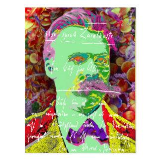 Cartão Postal Filósofo alemão de Friedrich Nietzche existencial