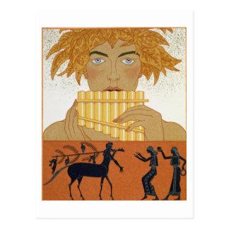 """Cartão Postal Filtre o gaiteiro, ilustração de """"Les Mythes"""" por"""