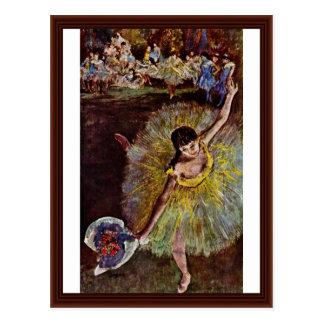 Cartão Postal Fim do Arabesque por Edgar Degas