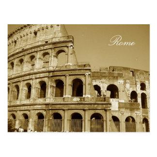Cartão Postal Fim do coliseu de Roma acima