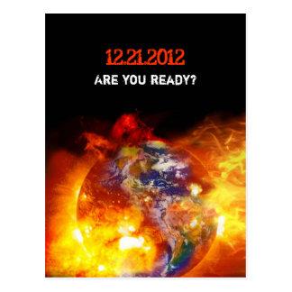 Cartão Postal Fim impetuoso do apocalipse do mundo