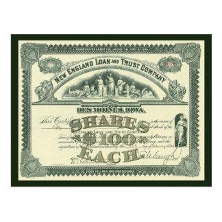Cartão Postal Finança principal do negócio do certificado