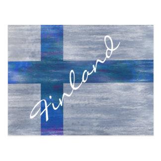 Cartão Postal Finlandia afligiu a bandeira finlandesa