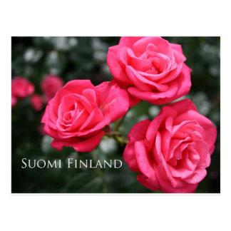 Cartão Postal Finlandia nas flores, ?ns em uma série