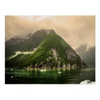 Cartão Postal Fiorde do braço de Tracy em Alaska