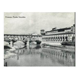 Cartão Postal Firenze, Florença,    Ponte Vecchio