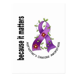 Cartão Postal Fita 3 da flor da doença de Alzheimers