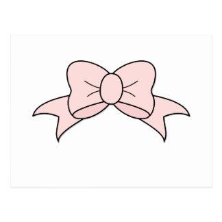 Cartão Postal Fita cor-de-rosa