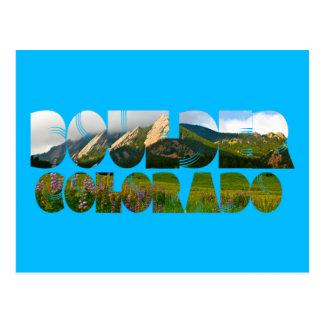 Cartão Postal Flairons, Boulder Colorado