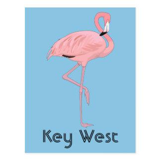 Cartão Postal Flamingo cor-de-rosa de Key West Florida