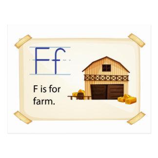 Cartão Postal Flashcard da fazenda