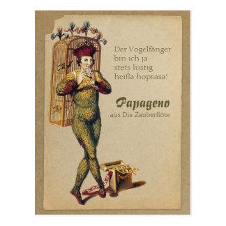 Cartão Postal Flauta mágica CC0839 Mozart de Papageno