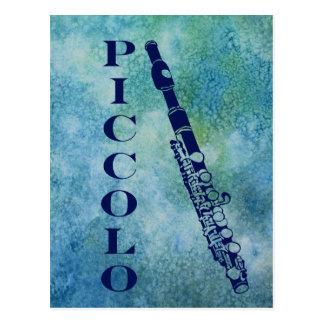 Cartão Postal Flautim no azul