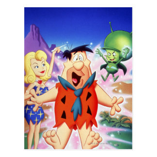 Cartão Postal Flintstone de Fred sob um período
