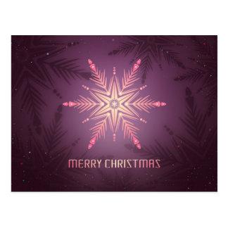 Cartão Postal Floco de neve do Feliz Natal
