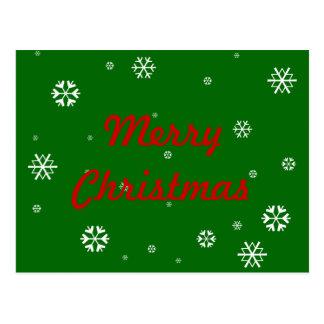 Cartão Postal Flocos de neve do Feliz Natal
